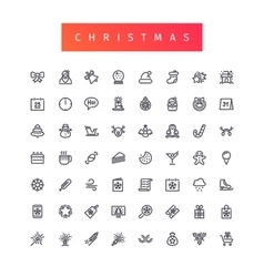 Christmas Outline Icons Set vector