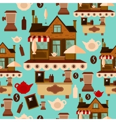 Coffee house seamless pattern vector image