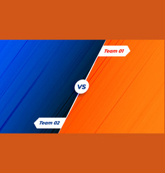 Competition versus vs background in orange and vector
