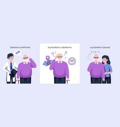 Dementia alzheimer design concept vector
