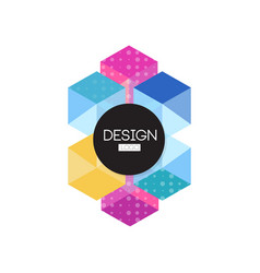 design logo template colorful abctract badge vector image