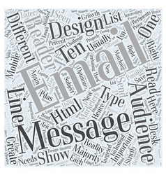 Designing for Different Types of Email Audiences vector