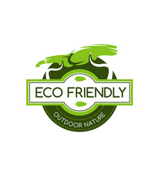 Eco friendly icon vector
