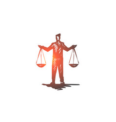 equilibrium balance equality scale justice vector image