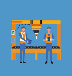 Factory workers cartoon vector