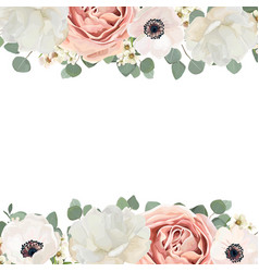 floral card design with flower bouquet peach vector image