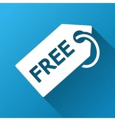 Free Tag Gradient Square Icon vector