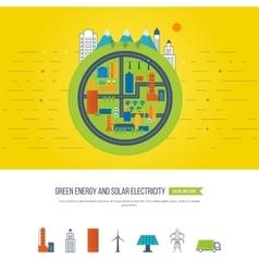 Green energy ecology eco urban landscape vector