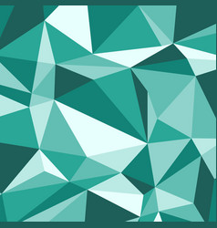 green polygon abstract triangle background vector image