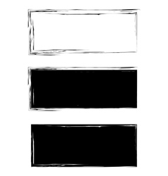 Grunge black frame background set vector image