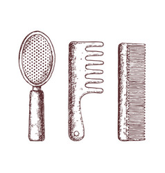 Hair combs vector