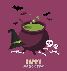 Happy halloween flat style vector image