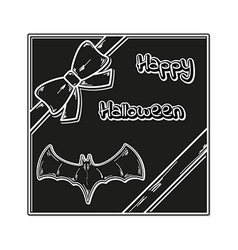 Happy halloween gift card vector
