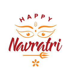 Happy navratri festival of india vector