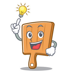 Have an idea kitchen board character cartoon vector