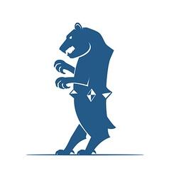 Heraldic elements Bear vector