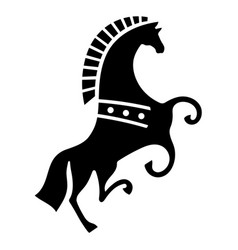 horse painted in scandinavian celtic decorative vector image