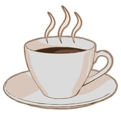 hot coffee in a cup vector image