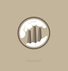 icon factory pipes smoke circle vector image