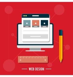 Icon for web design seo social media vector