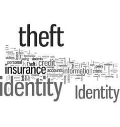 Identity theft insurance vector