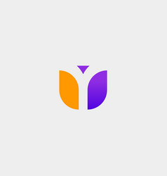 Letter y modern logo design vector