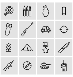 line military icon set vector image vector image