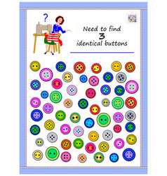 Logic puzzle game for children and adults need vector