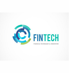 Logo concept for digital finance industry vector