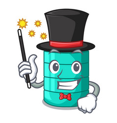 Magician cartoon water tank for in agriculture vector