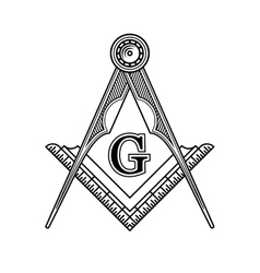Masonic Freemasonry Emblem Icon Logo vector image
