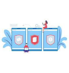 mobile data protection concept internet security vector image