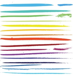Multi colored paint art brushes vector