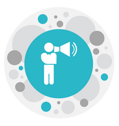 of business symbol on speaker vector image