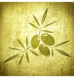 Olives Grunge Background vector