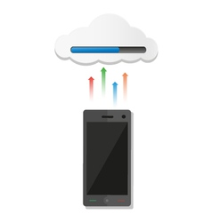 Phone Uploaded to Cloud vector image
