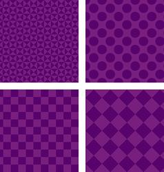 Purple abstract geometric shape wallpaper set vector