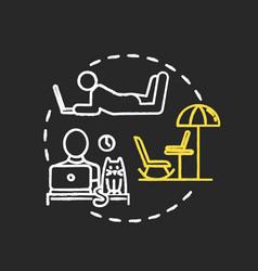 Quiet workplace chalk rgb color concept icon vector