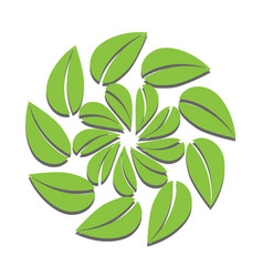 Rotated leaf or leaf swirl for your logo design vector