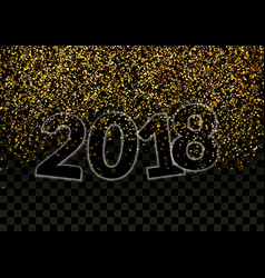shimmer glitter falling revealing happy new year vector image