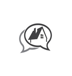 Small green home symbol window and chimney vector