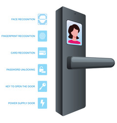 Smart door lock vector