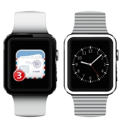 Smart watches with email on the screen vector image
