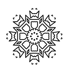 snowflake thin line icon isolated vector image