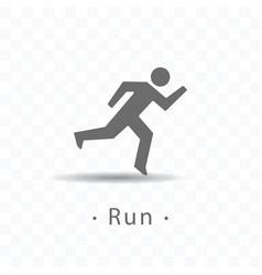 sport running man icon on vector image