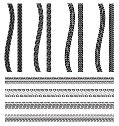 various automobile tyre vector image