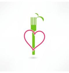 Vegetarian sign vector