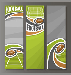 vertical banners for american football vector image