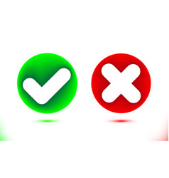 white checkmark and crosshair icon in green and vector image