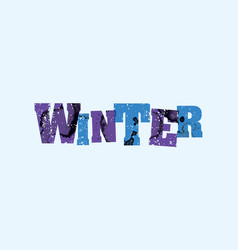Winter concept stamped word art vector
